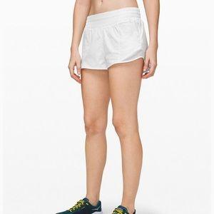 Lululemon Hotty Hot White Shorts